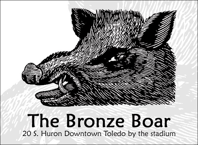 7.	The Bronze Boar – 20 S. Huron St The historic Bronze Boar, one of the first establishments to set up shop during the Warehouse District revitalization, is a cool place to have a glass of wine or beer or sample one of their full range of single-malt scotches and fine brandy.