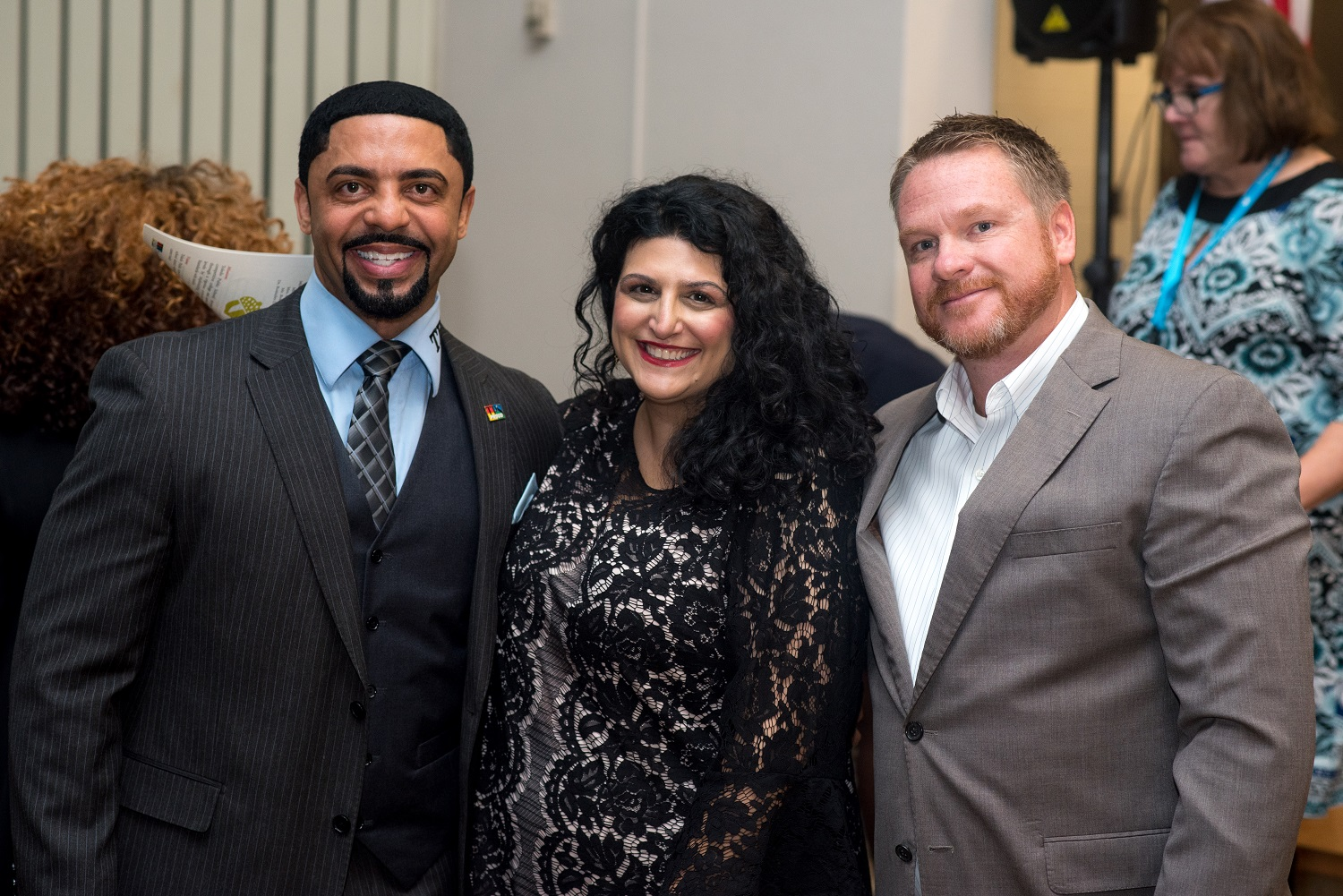 Pictured: Dr. Romules Durant, Superintendent/CEO, Toledo Public Schools, Mona Al-Hayani, and Kevin Dalton, President of the Toledo Federation of Teachers Photo Credit: Toledo Public Schools